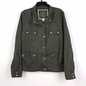 J. Crew Relaxed Boyfriend Field Jacket Green